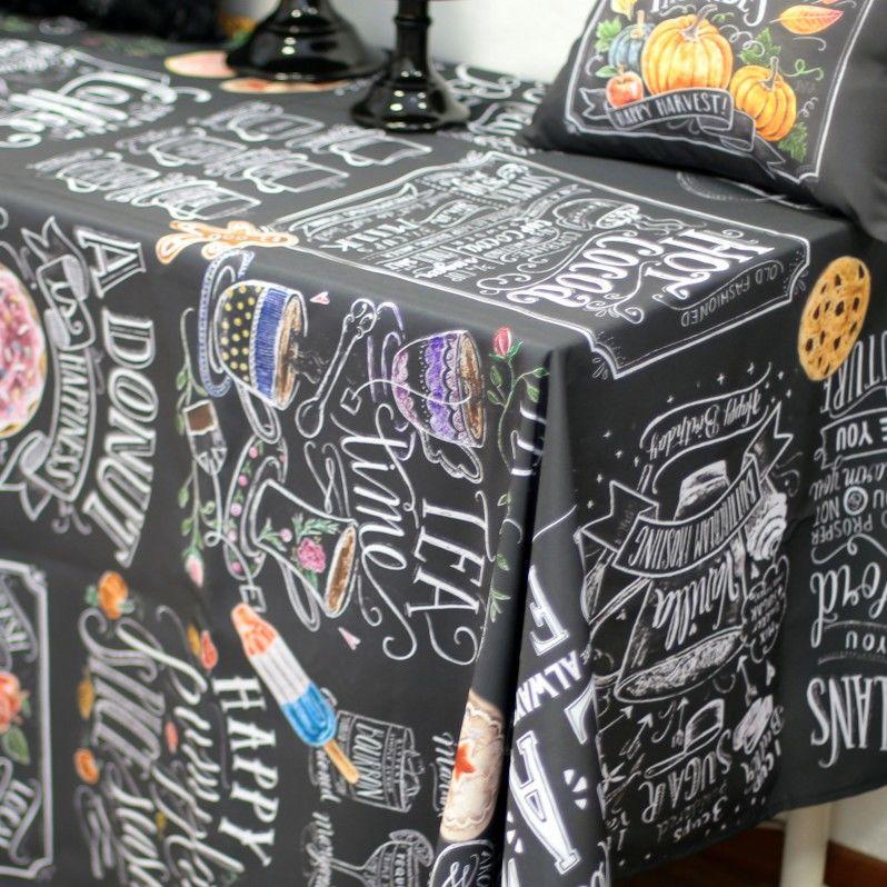 текстиль для кухни, меловая доска, стильный текстиль, подарок