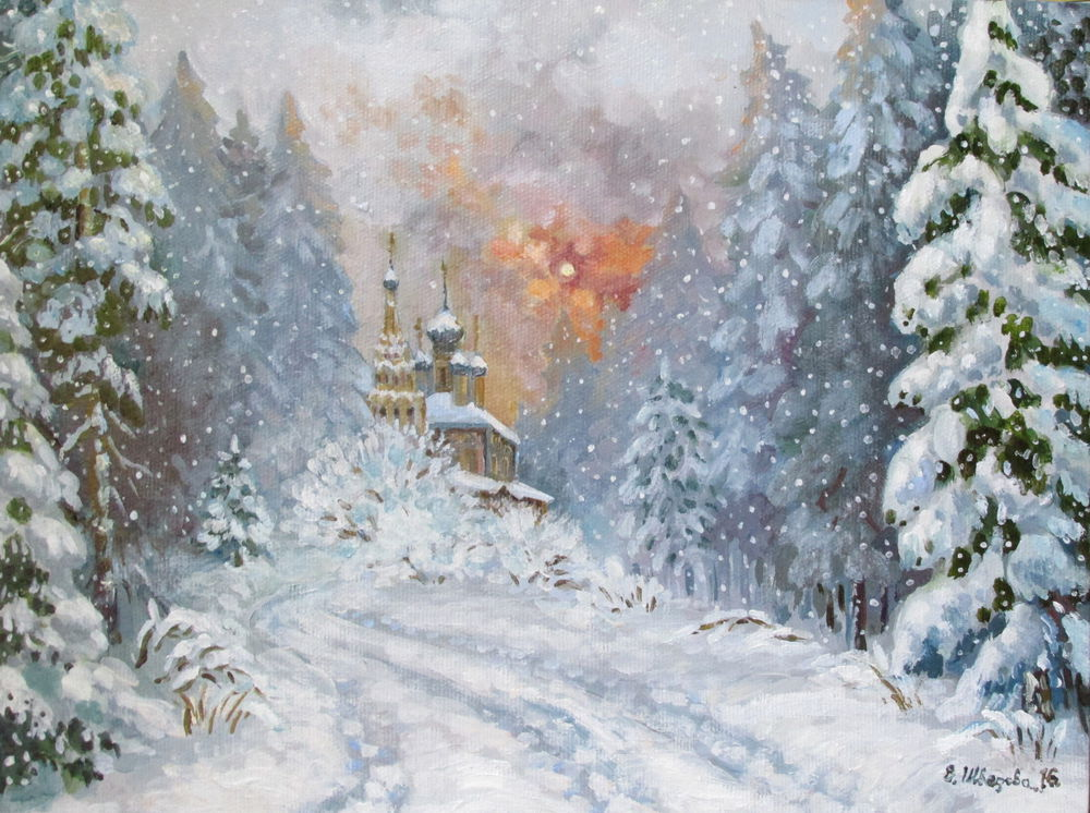 конкурс, подарки к новому году, конкурс подарков, подарок, картина в подарок, зимний пейзаж, пейзаж маслом, зимняя сказка, ярмарка мастеров, конкурс магазинов, авторская живопись, елена шведова