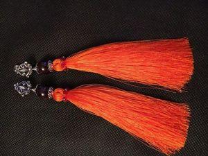 Мастер-класс: серьги-кисти из натуральных камней. Ярмарка Мастеров - ручная работа, handmade.