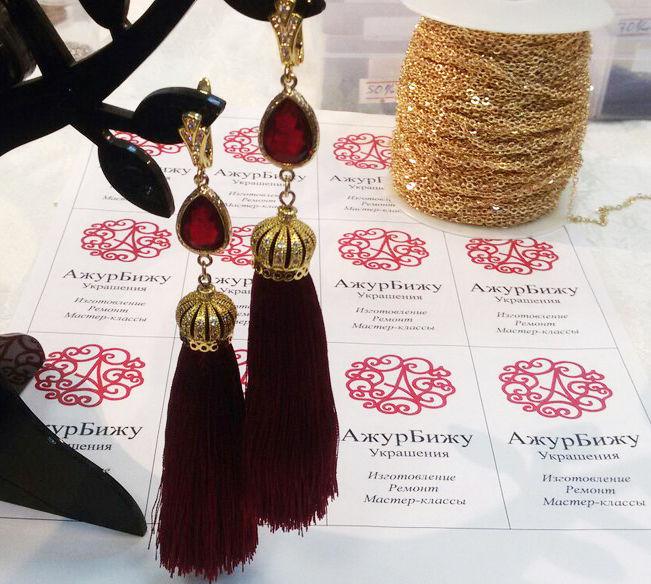 натуральные камни, серьги, модные украшения