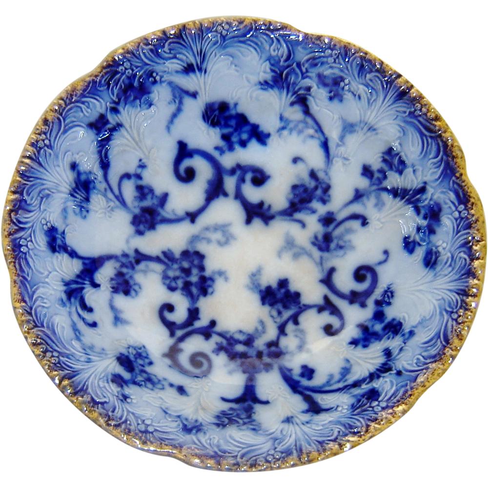 Flow blue — антикварная красота из Англии, фото № 32