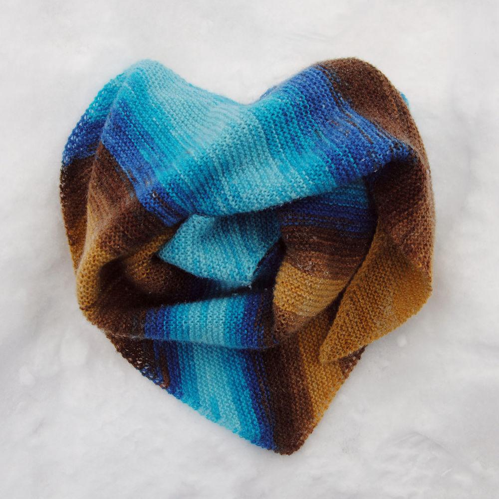 шарф вязаный, бактус