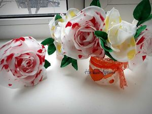 Создаем мраморную розу из фоамирана. Ярмарка Мастеров - ручная работа, handmade.