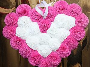 сторона сердце из роз из салфеток своими руками лёгкого полёта, мягкой