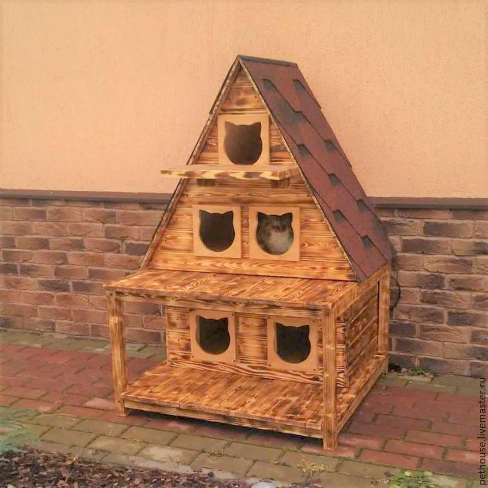 теплый домик для кота
