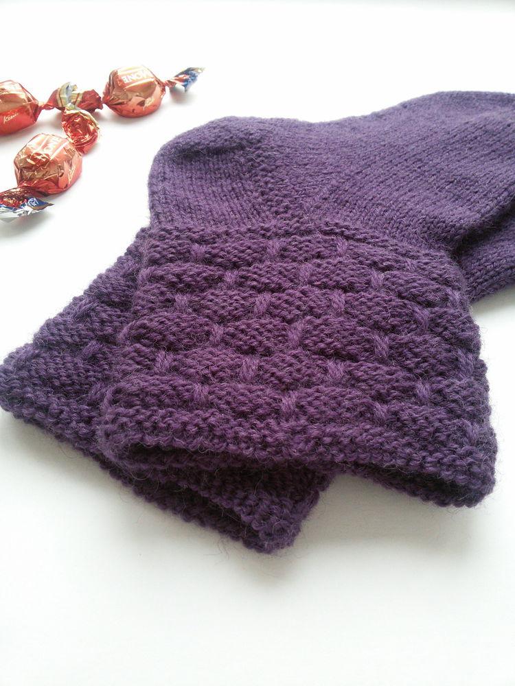 шерстяные носки, носки фиолетовые