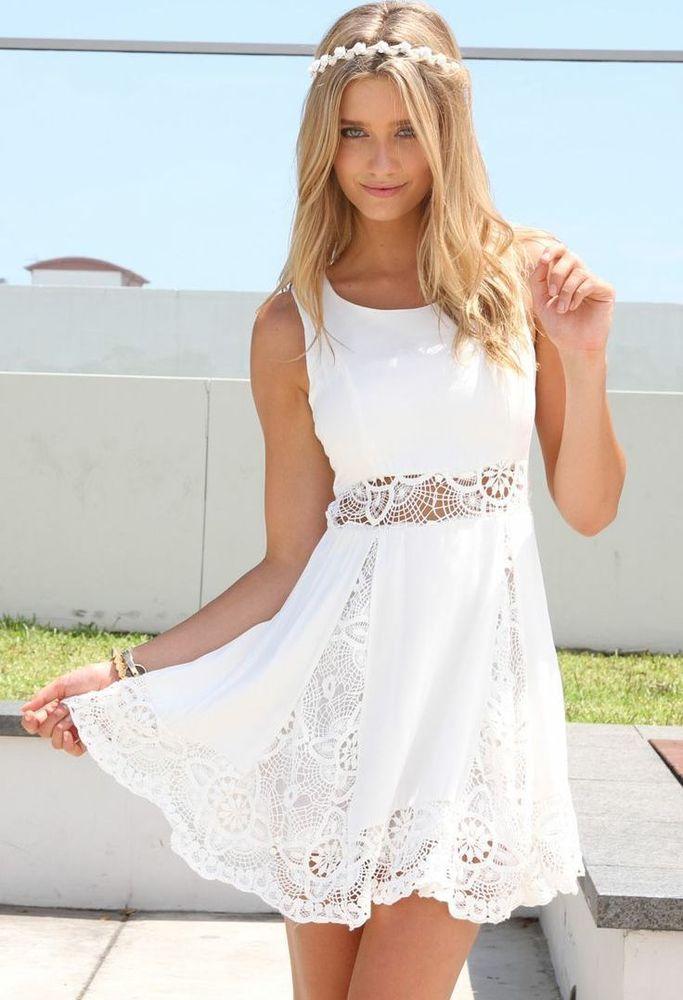 таком фото платье лето белое для