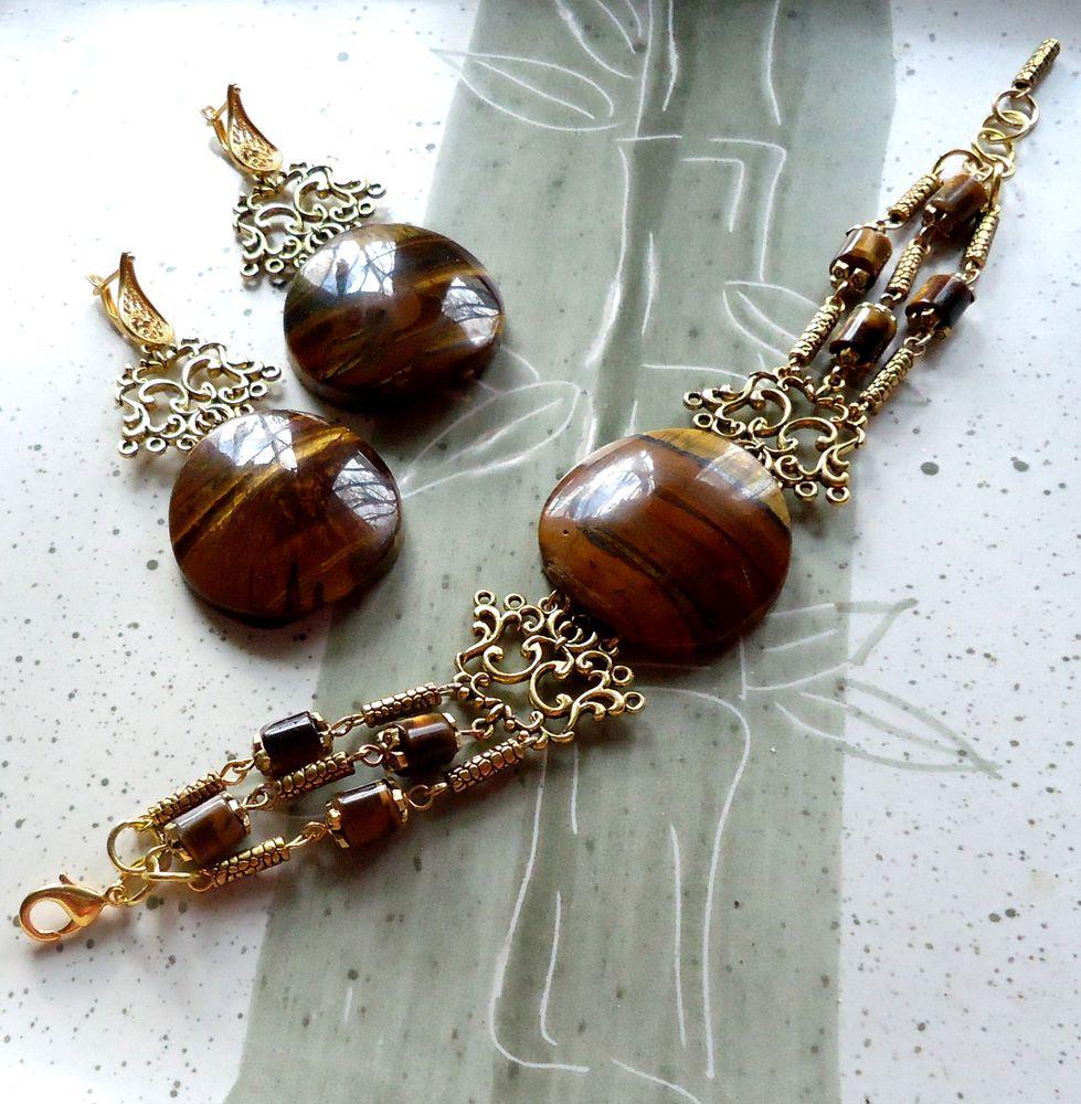 браслет, комплект украшений, натуральные камни