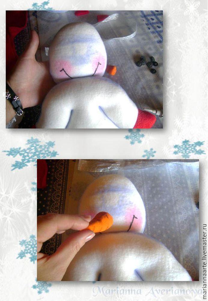 Мастер-класс по созданию забавной новогодней игрушки «Снеговичок-тюфячок», фото № 21