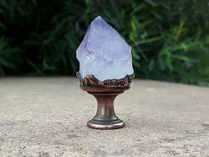 Ручки для мебели с крупными кристаллами аметиста. Новый магазин — Ручки с камнями. Ярмарка Мастеров - ручная работа, handmade.