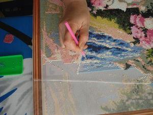 Мастер-класс по созданию картины в технике алмазной вышивки. Ярмарка Мастеров - ручная работа, handmade.