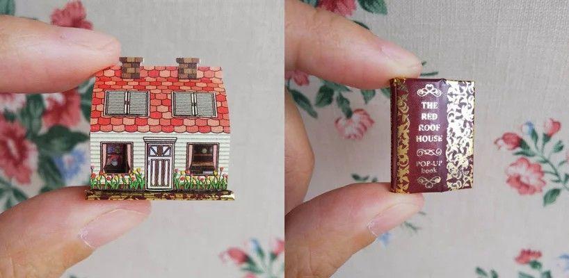 Домики с ноготок: миниатюрные pop-up книги