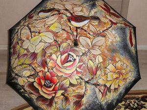 Роспись зонта: как это было. :). Ярмарка Мастеров - ручная работа, handmade.