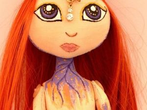 Шьем текстильную куклу «Райская пташка». Ярмарка Мастеров - ручная работа, handmade.