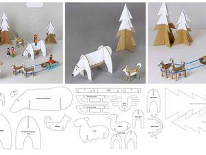 Полярная сказка из картона. Ярмарка Мастеров - ручная работа, handmade.