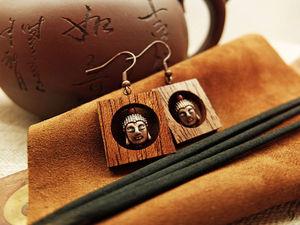Фоновинки: Серьги «Будда». Ярмарка Мастеров - ручная работа, handmade.