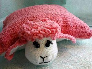 Вяжем подушку-игрушку Овечка. Ярмарка Мастеров - ручная работа, handmade.