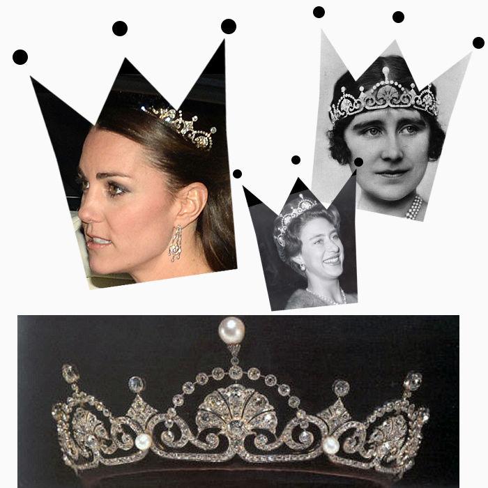 известные украшения, украшения, тиара garrard, жемчуг, украшения королев