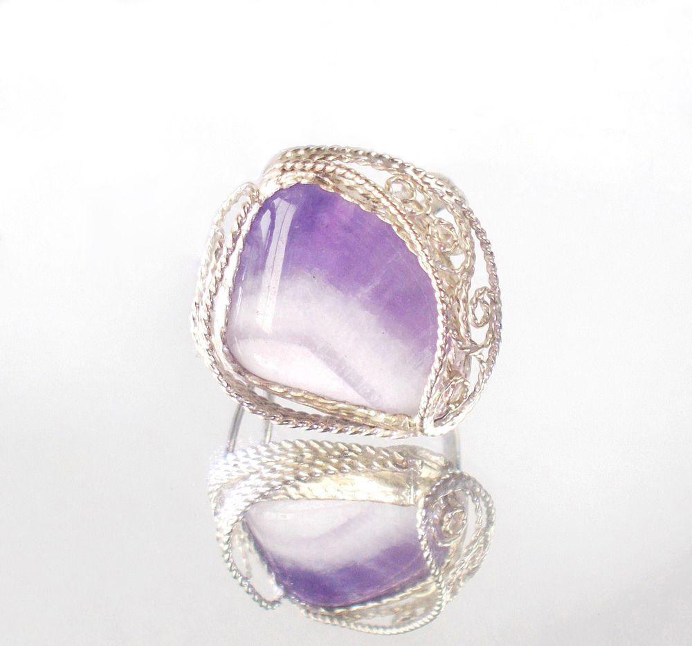 кольцо аметист филигрань, кольцо аметист подарок, кольцо ручной работы