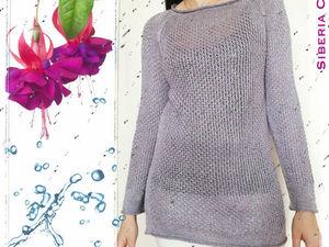 Скидка на вязаный свитер Серебро | Ярмарка Мастеров - ручная работа, handmade