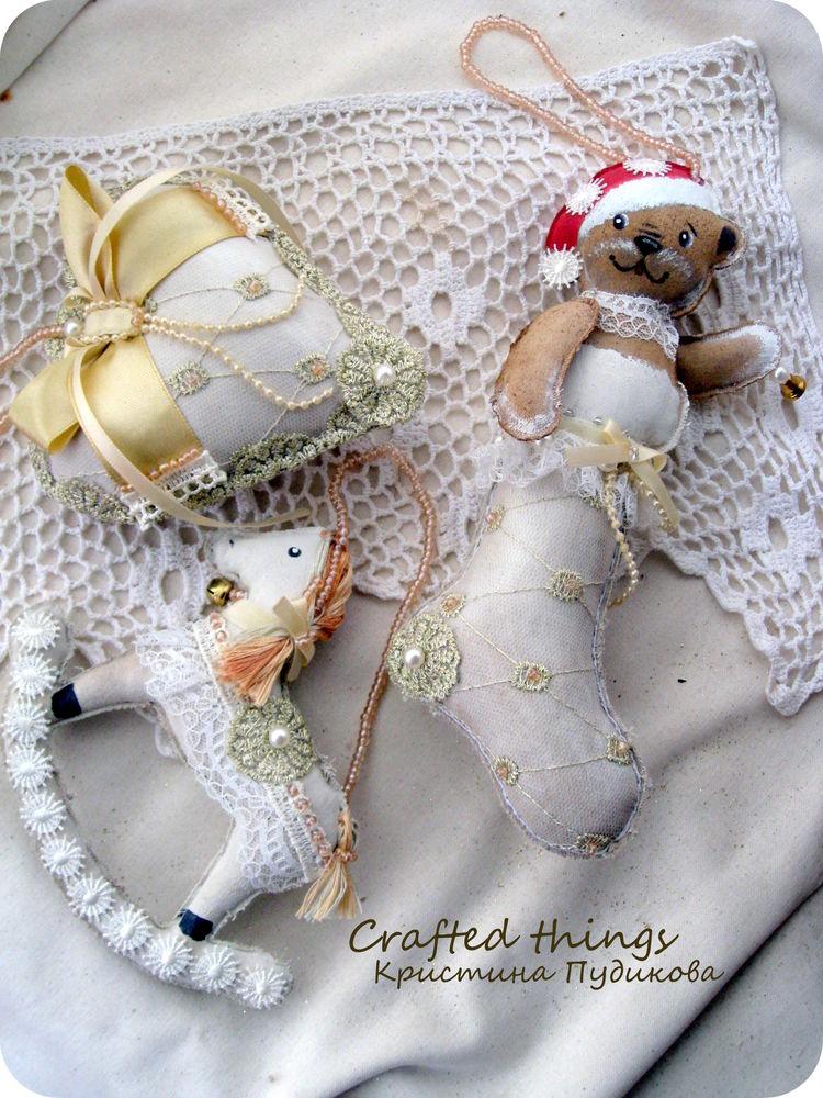 ёлочные украшения, новогодний декор, кружево