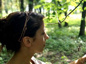 Обруч для волос Pаstel в технике Wire Wrap | Ярмарка Мастеров - ручная работа, handmade
