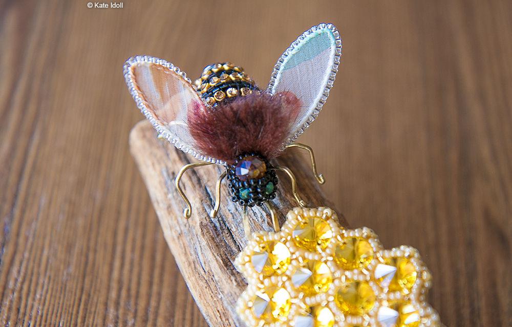 Вышиваем бисером оригинальную брошь «Пчела», фото № 2