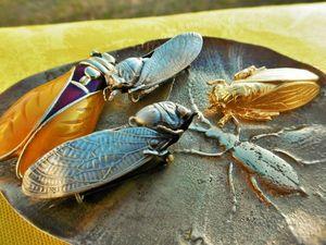 Даже осенью цикады всё ещё прилетают в мой магазин!. Ярмарка Мастеров - ручная работа, handmade.