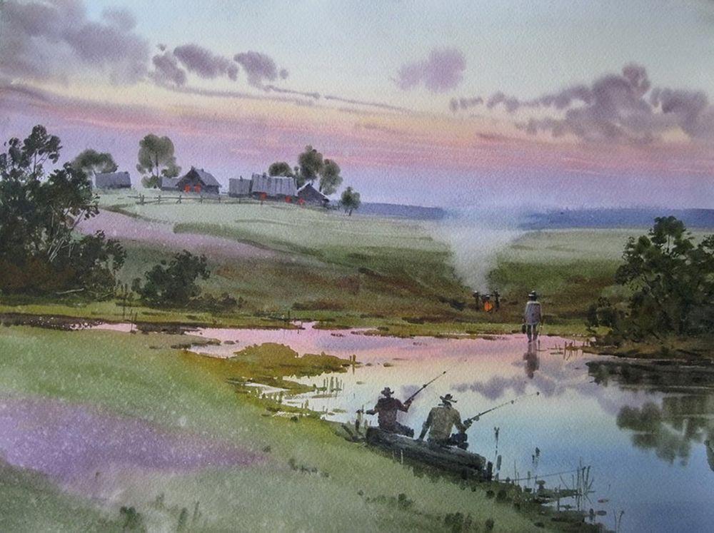 Акварельные пейзажи художника Ильи Горгоца, фото № 49
