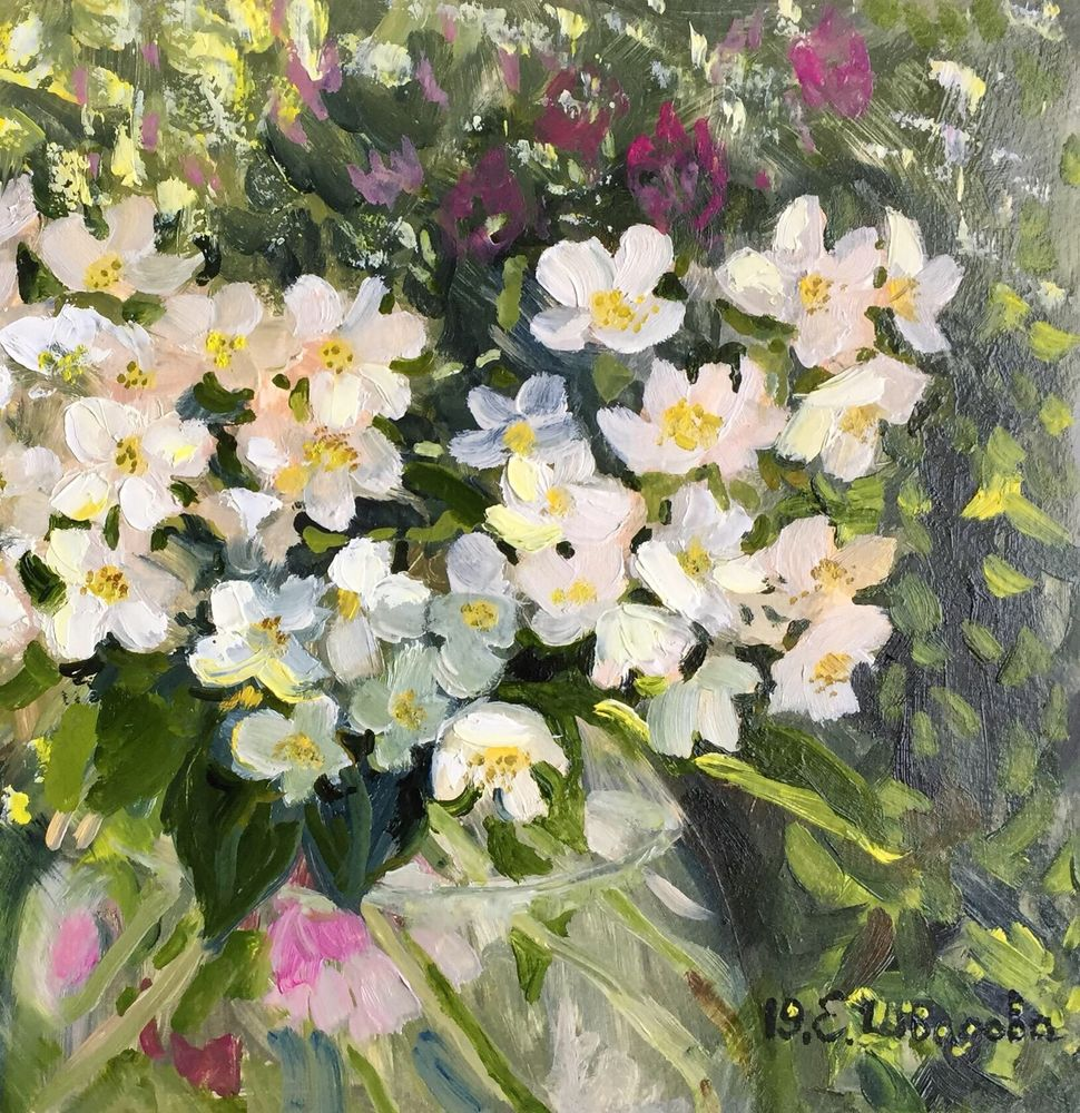 картина цветы, елена шведова
