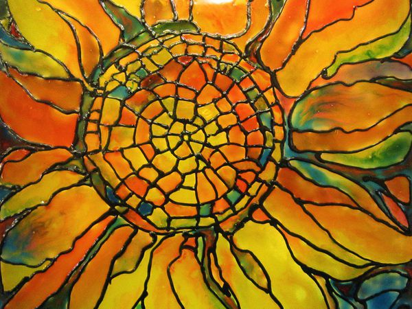 An Easy Step by Step Guide: Making a Stained Glass Lamp | Livemaster - handmade