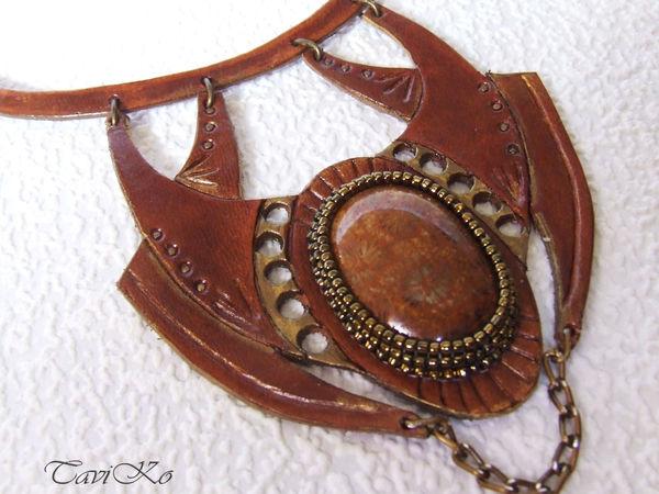 Аукцион на кожаные украшения | Ярмарка Мастеров - ручная работа, handmade