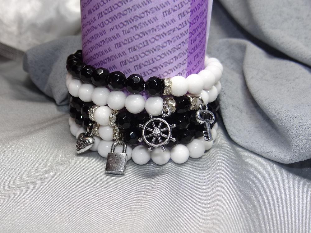 подарок девушке женщине, авторская ручная работа, браслет из агата, скидки