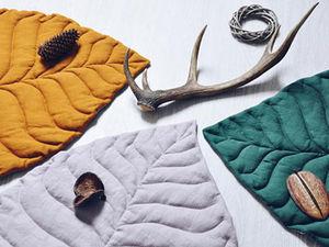 Простые идеи для дома: текстильные листья как пледы и ковры. Ярмарка Мастеров - ручная работа, handmade.
