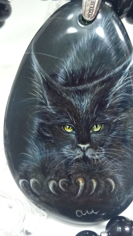 кулон кот, хеллоуин