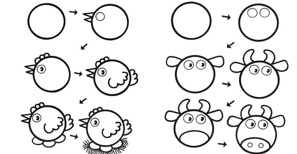 простой рисунок, урок рисования