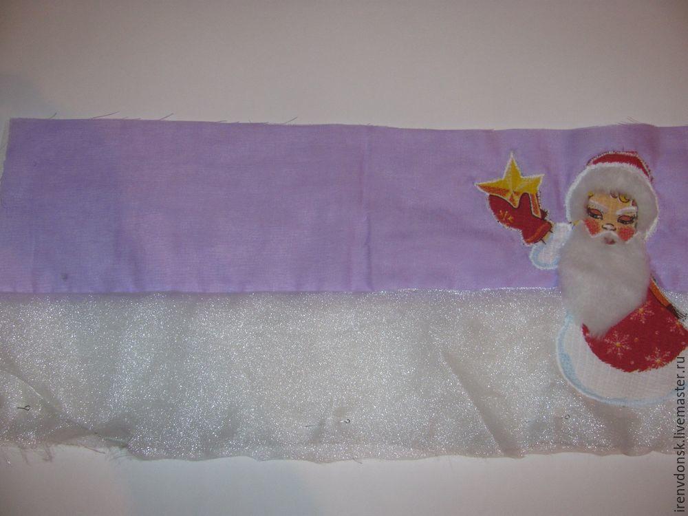 развитие ребёнка, аппликация из ткани, новый год