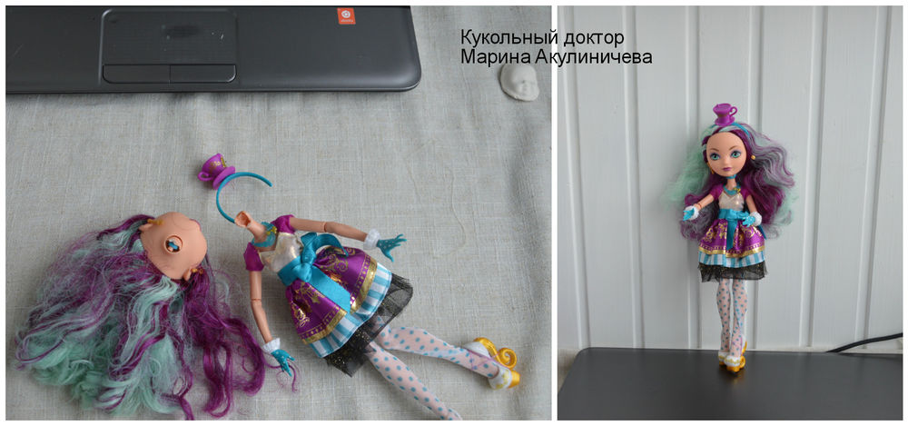 реставрация куклы киев, ремонт шарнирной куклы