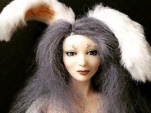 Создаем будуарную куклу Сюзетт серый кролик. Часть 1. Ярмарка Мастеров - ручная работа, handmade.