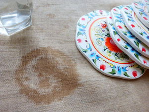 Вам тоже не нравятся следы и пятна на столах и скатертях?  Тогда Вам нужны костеры или бирдекели! | Ярмарка Мастеров - ручная работа, handmade