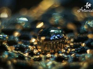 Украшение из бисера на большой конкурс Птички колье Nyx | Ярмарка Мастеров - ручная работа, handmade