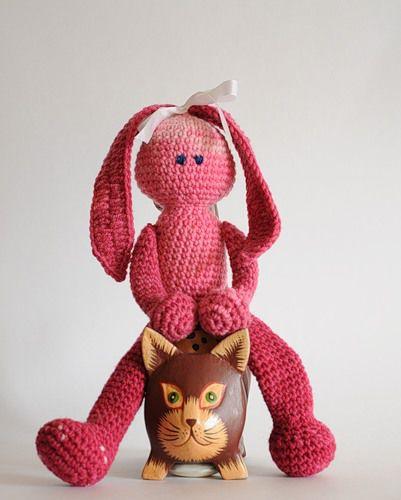 вязание, вязаный заяц