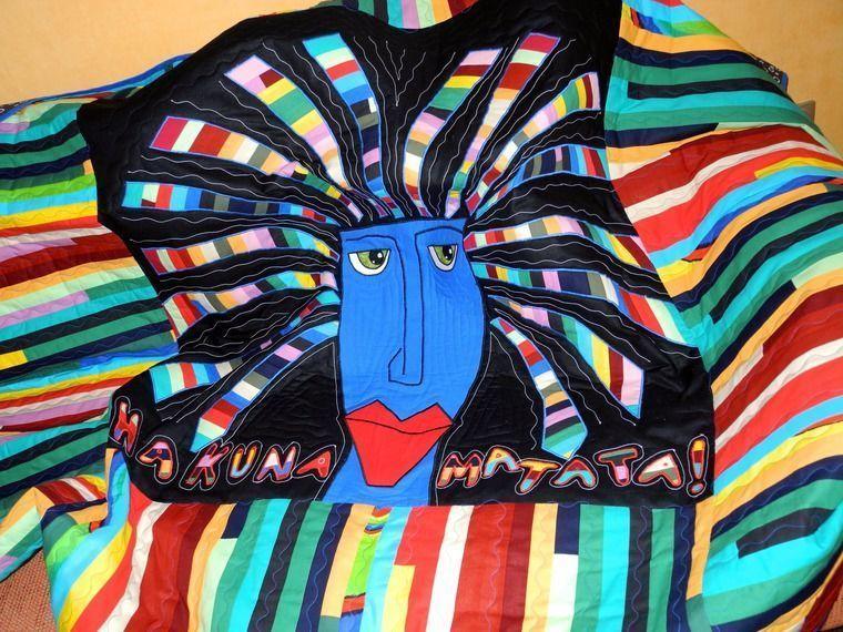 лоскутное одеяло, интерьер детской, пэчворк плед