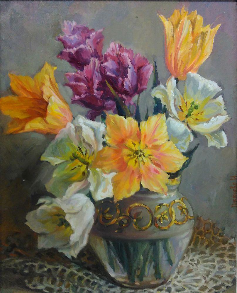 картина маслом, живопись цветы