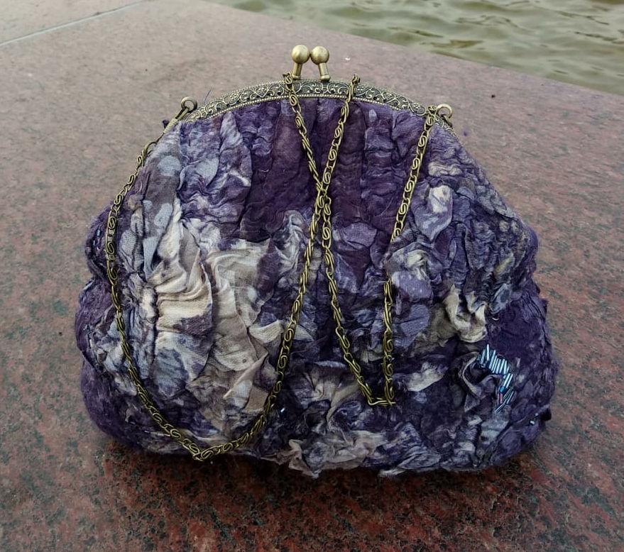 валяние, изящная сумочка
