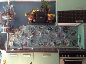 Необычно! кухонный фартук из тарелок. Ярмарка Мастеров - ручная работа, handmade.