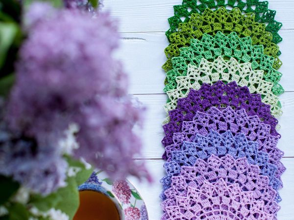 Салфетки крючком | Ярмарка Мастеров - ручная работа, handmade