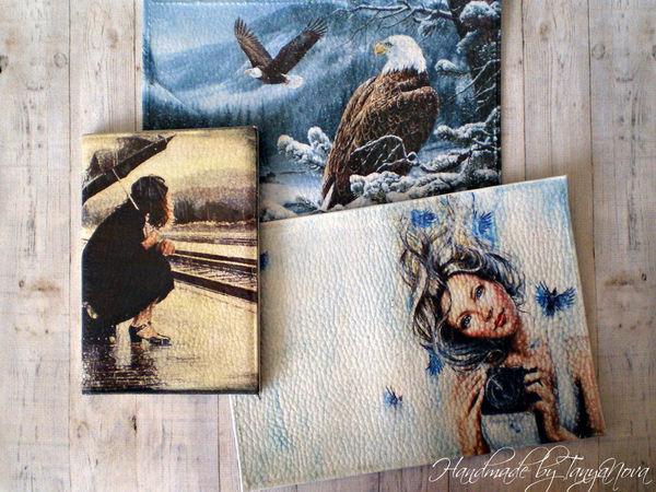 Декупаж на коже и ткани | Ярмарка Мастеров - ручная работа, handmade