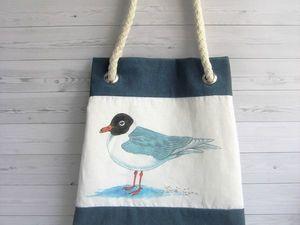 Успей до лета! Скидка на пляжную сумку. Ярмарка Мастеров - ручная работа, handmade.