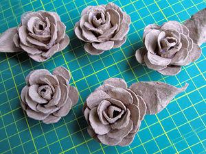 Розы из яичного лотка: видео мастер-класс. Ярмарка Мастеров - ручная работа, handmade.